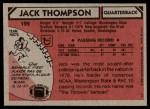 1980 Topps #122  Jack Thompson  Back Thumbnail