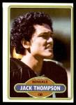 1980 Topps #122  Jack Thompson  Front Thumbnail