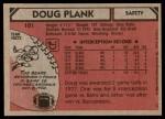 1980 Topps #101  Doug Plank  Back Thumbnail