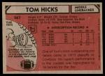 1980 Topps #267  Tom Hicks  Back Thumbnail