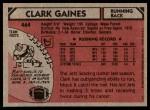 1980 Topps #464  Clark Gaines  Back Thumbnail