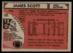 1980 Topps #442  James Scott  Back Thumbnail