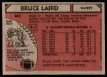 1980 Topps #447  Bruce Laird  Back Thumbnail