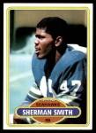 1980 Topps #87  Sherman Smith  Front Thumbnail