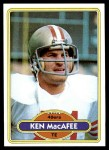 1980 Topps #71  Ken MacAfee  Front Thumbnail