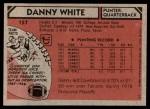1980 Topps #157  Danny White  Back Thumbnail