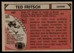 1980 Topps #407  Ted Fritsch Jr.  Back Thumbnail