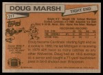 1981 Topps #317  Doug Marsh  Back Thumbnail