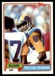 1981 Topps #489  Preston Dennard  Front Thumbnail