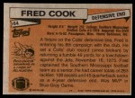 1981 Topps #64  Fred Cook  Back Thumbnail