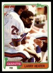 1981 Topps #309  Larry Heater  Front Thumbnail