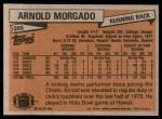 1981 Topps #266  Arnold Morgado  Back Thumbnail