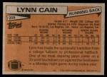 1981 Topps #258  Lynn Cain  Back Thumbnail