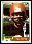 1981 Topps #305  Isaac Curtis  Front Thumbnail