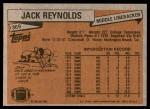 1981 Topps #369  Jack Reynolds  Back Thumbnail