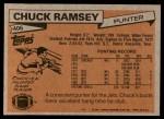1981 Topps #406  Chuck Ramsey  Back Thumbnail