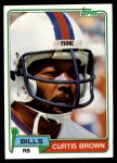 1981 Topps #133  Curtis Brown  Front Thumbnail