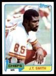 1981 Topps #86  J.T. Smith  Front Thumbnail