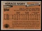 1981 Topps #372  Horace Ivory  Back Thumbnail