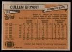 1981 Topps #273  Cullen Bryant  Back Thumbnail