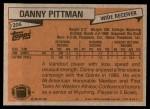1981 Topps #206  Danny Pittman  Back Thumbnail