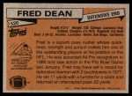 1981 Topps #520  Fred Dean  Back Thumbnail