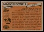 1981 Topps #460  Marvin Powell  Back Thumbnail