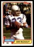 1981 Topps #137  Don McCauley  Front Thumbnail