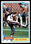 1981 Topps #164  Luke Prestridge  Front Thumbnail