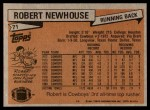1981 Topps #71  Robert Newhouse  Back Thumbnail