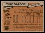 1981 Topps #99  Mike Barber  Back Thumbnail
