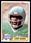 1981 Topps #13  Leroy Harris  Front Thumbnail