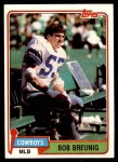 1981 Topps #33  Bob Breunig  Front Thumbnail