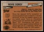 1981 Topps #380  Revie Sorey  Back Thumbnail