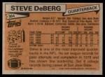 1981 Topps #364  Steve DeBerg  Back Thumbnail