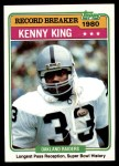 1981 Topps #333   -  Kenny King Record Breaker Front Thumbnail