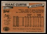 1981 Topps #305  Isaac Curtis  Back Thumbnail