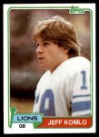 1981 Topps #511  Jeff Komlo  Front Thumbnail