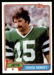 1981 Topps #406  Chuck Ramsey  Front Thumbnail