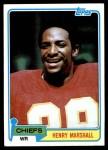 1981 Topps #412  Henry Marshall  Front Thumbnail