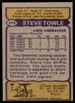 1979 Topps #273  Steve Towle  Back Thumbnail