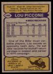 1979 Topps #148  Lou Piccone  Back Thumbnail
