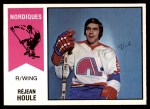 1974 O-Pee-Chee WHA #41  Rejean Houle  Front Thumbnail