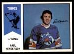 1974 O-Pee-Chee WHA #57  Paul Henderson  Front Thumbnail