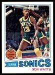 1977 Topps #51  Don Watts  Front Thumbnail