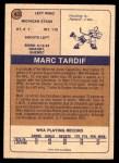1974 O-Pee-Chee WHA #43  Marc Tardif  Back Thumbnail