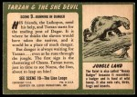 1953 Topps Tarzan and the She Devil #9   Running thru the Jungle Back Thumbnail