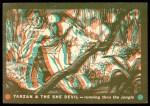 1953 Topps Tarzan and the She Devil #9   Running thru the Jungle Front Thumbnail