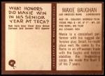 1967 Philadelphia #87  Maxie Baughan  Back Thumbnail
