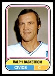 1975 O-Pee-Chee WHA #23  Ralph Backstrom  Front Thumbnail